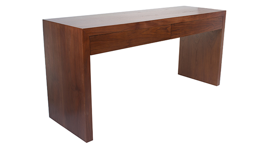 Warren desk solid wood walnut veneer - Unfinished wood desks ...